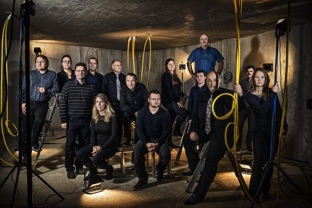 L'équipe dirigeante de Gabella S.A, entreprise de génie civil. © Thierry Porchet