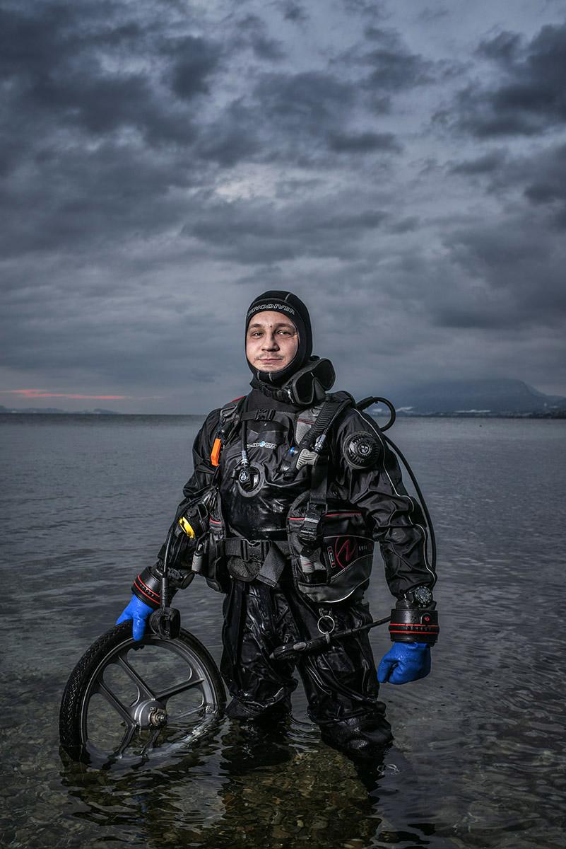 Thierry Grünig, fondateur d'une association pour le nettoyage de lacs