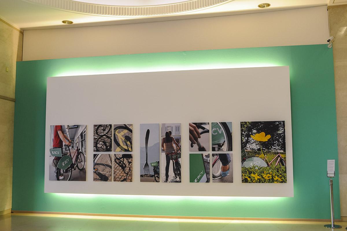 Mur décoratif pour la BCV. © Thierry Porchet