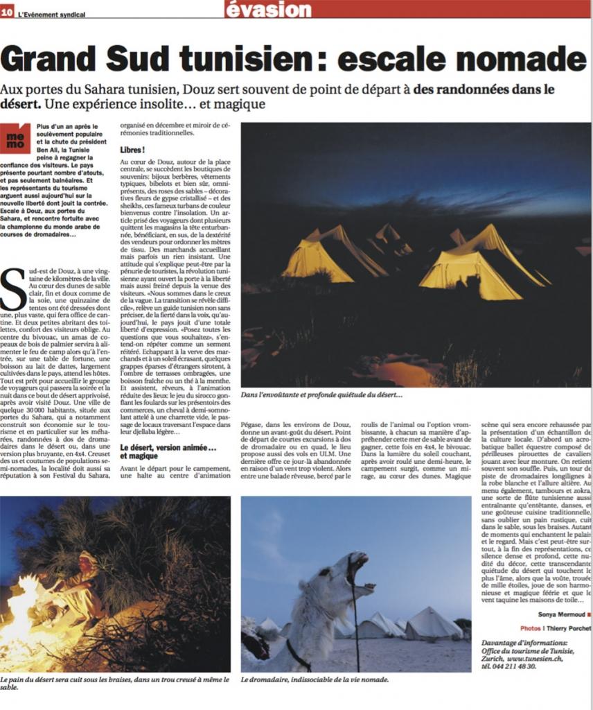 Reportage nomades en Tunisie. © Thierry Porchet