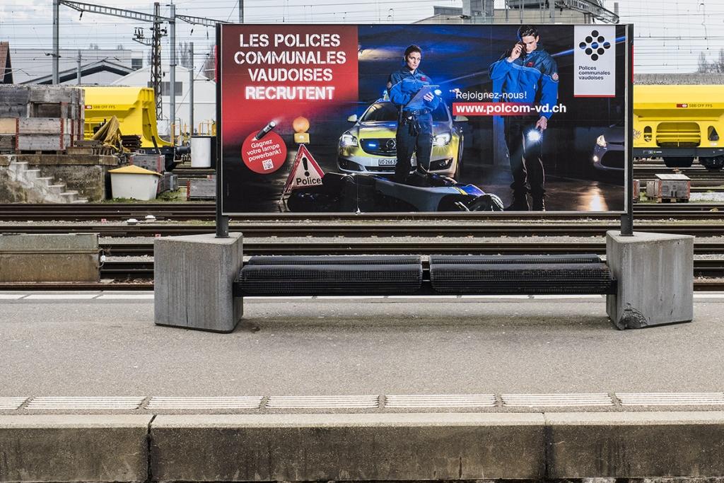 Campagne publicitaire pour la police. © Thierry Porchet