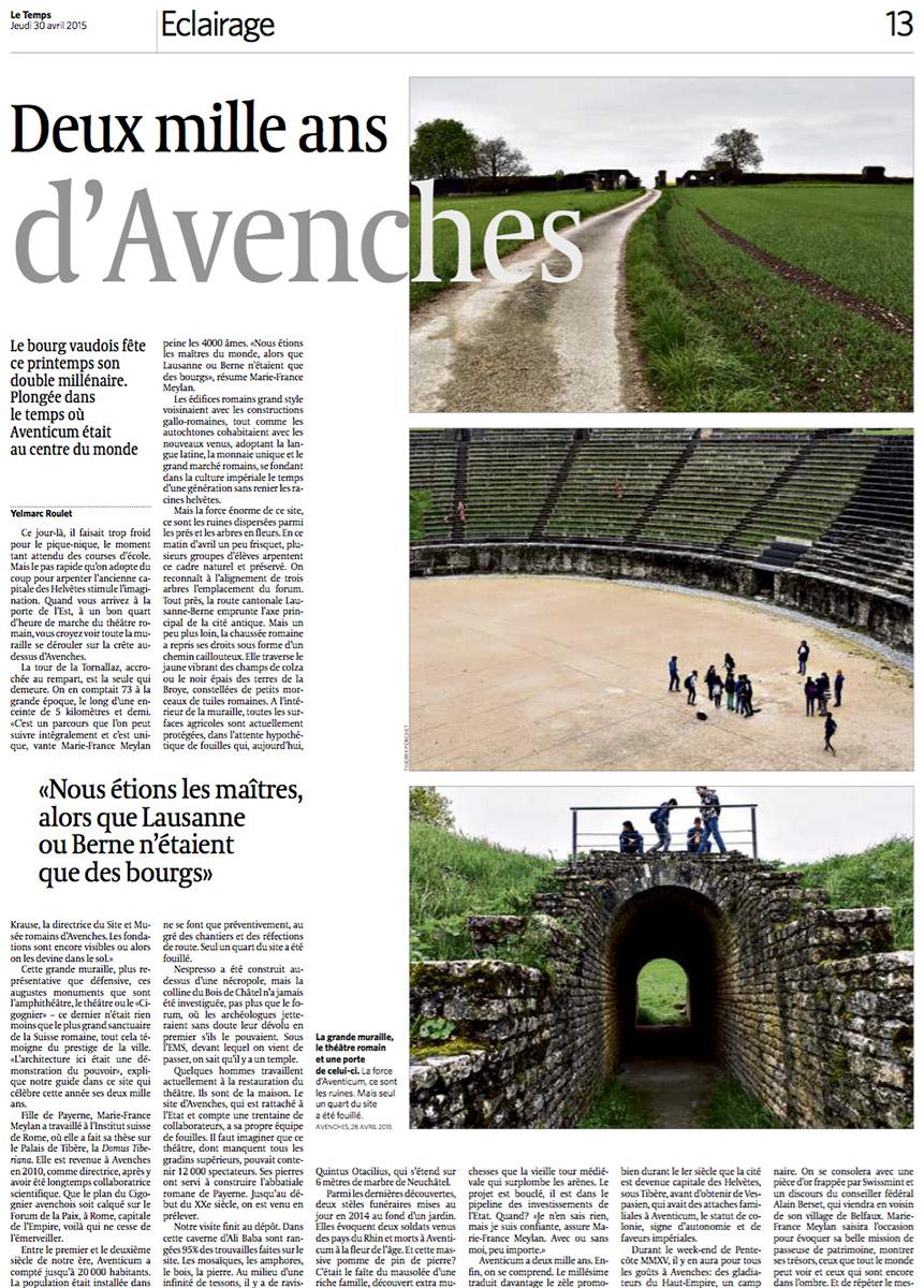 Reportage à Avenches pour Le Temps. © Thierry Porchet