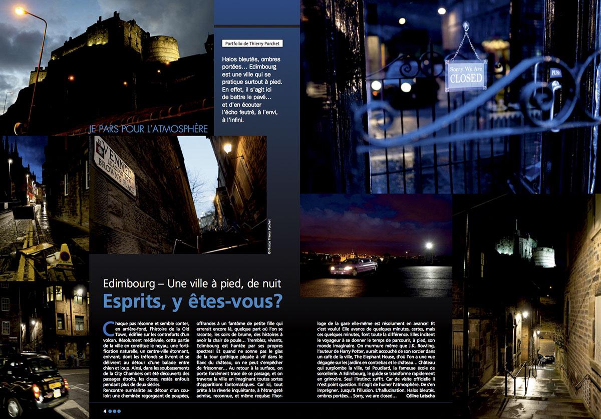 Reportage sur la ville d'Edimbourg pour Je Pars. © Thierry Porchet