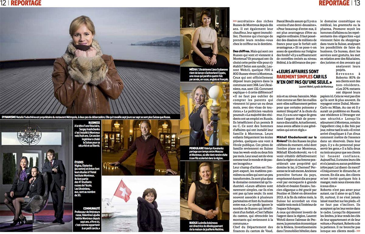 Reportage sur les Russes de Montreux pour L'Hebdo. © Thierry Porchet