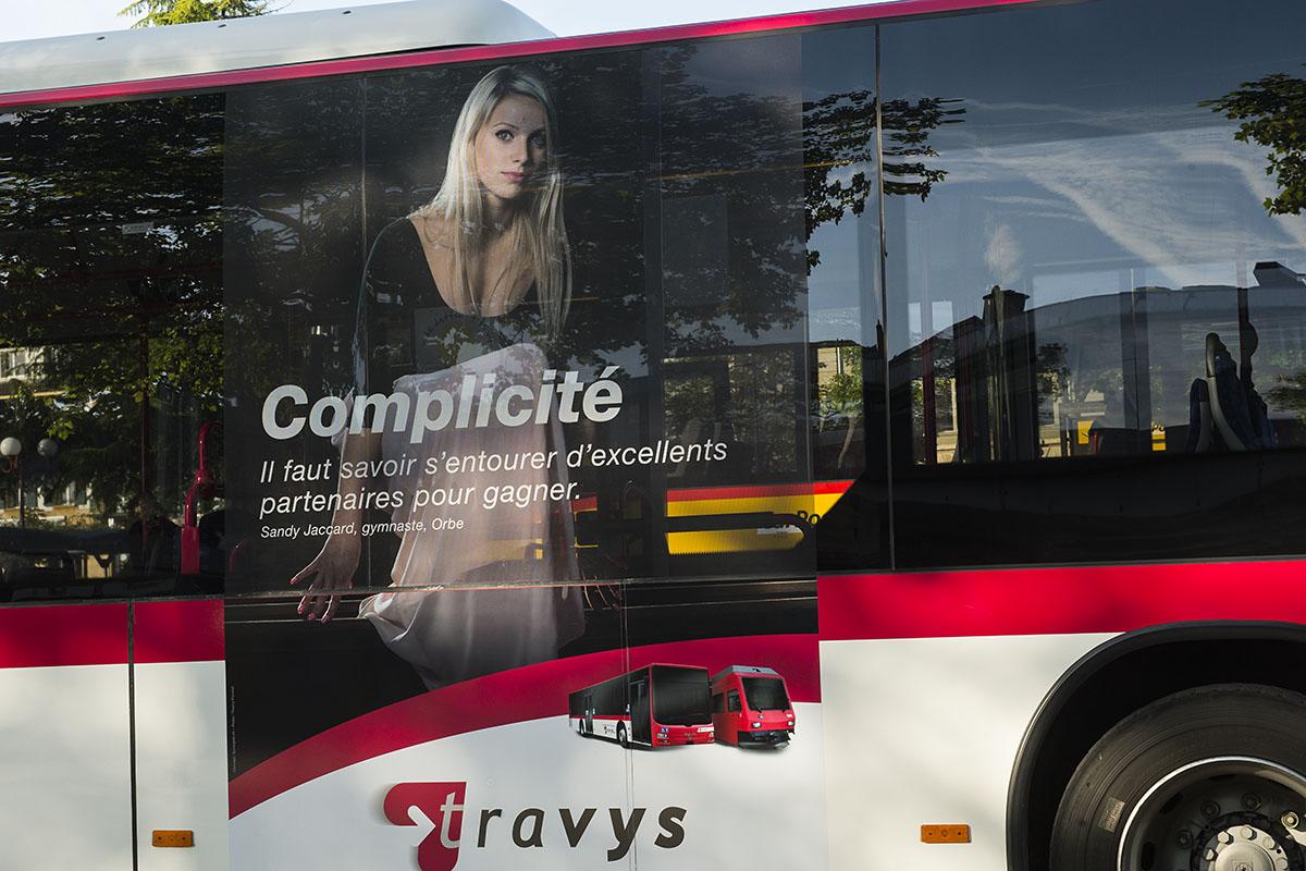 Campagne du pub pour les transports publiques. © Thierry Porchet