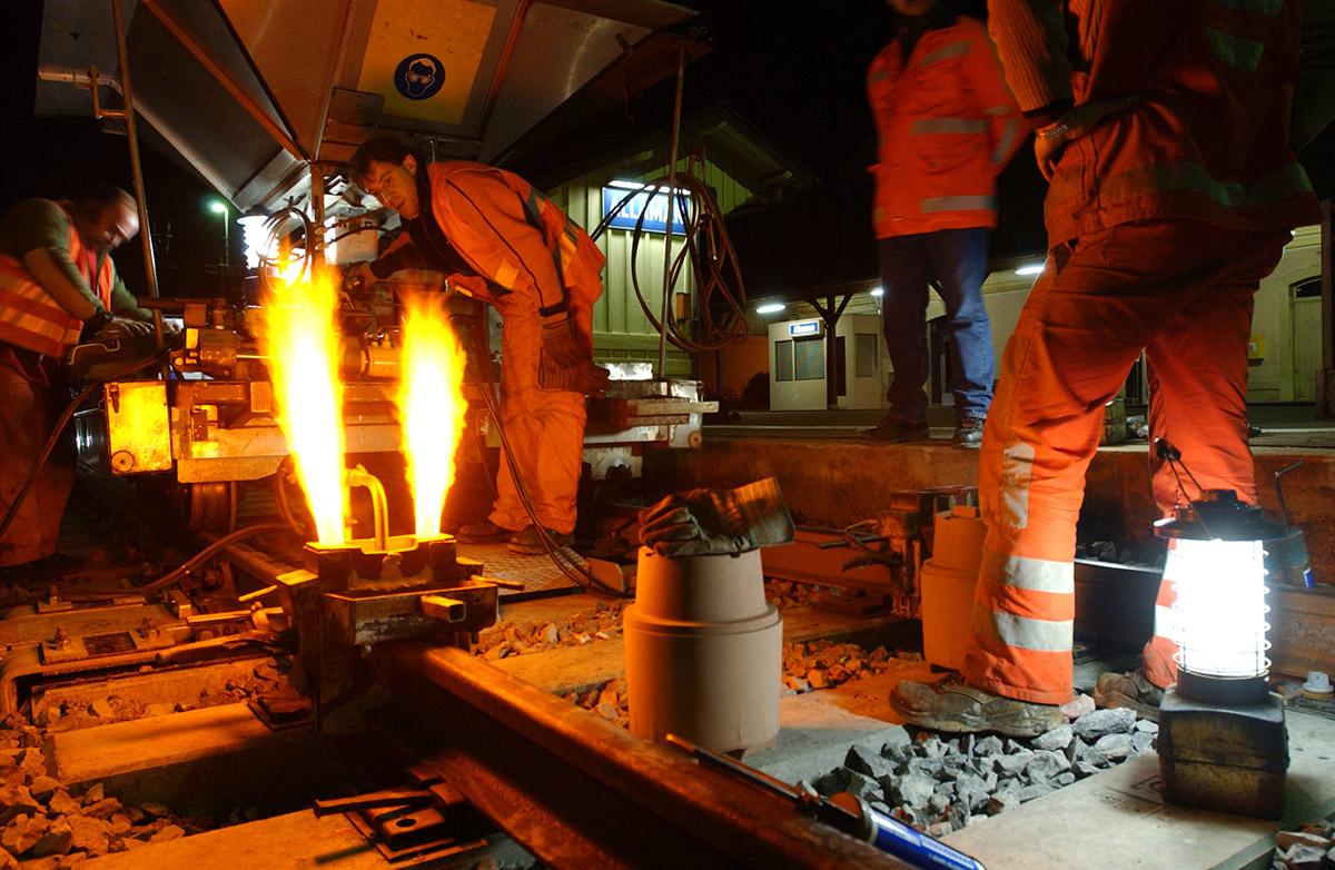 Le monde du travail - soudeurs pour les CFF ©Thierry Porchet