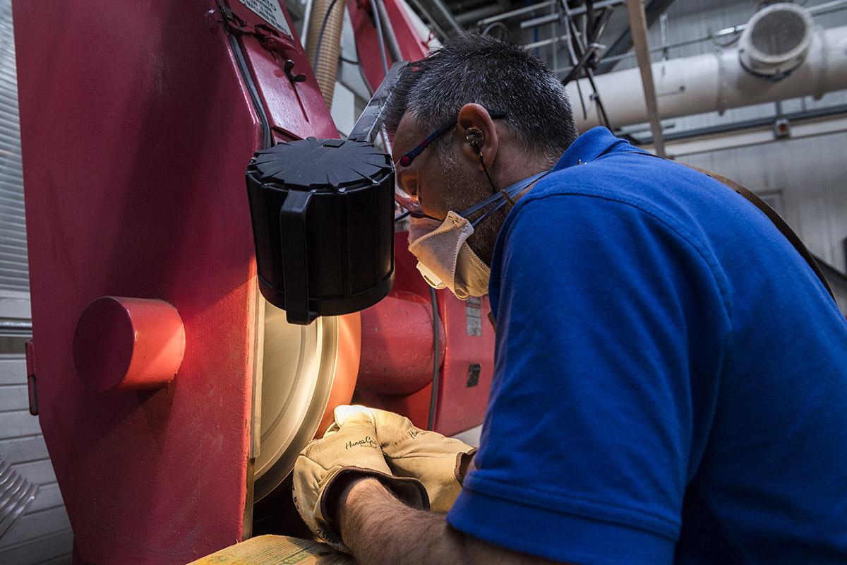 Reportage pour le site web de l'entreprise Precicast  , Chiasso © Thierry Porchet