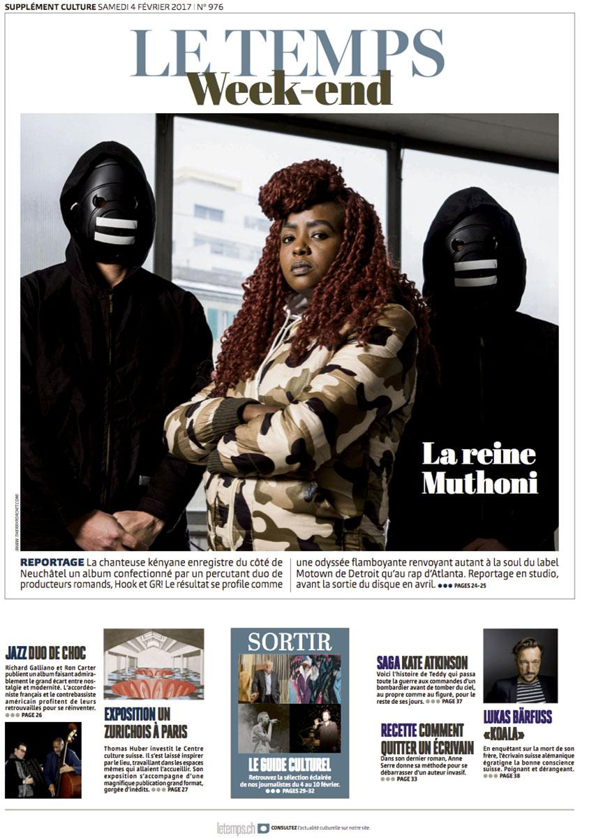 Portrait de la chanteuse Muthoni pour Le Temps © Thierry Porchet