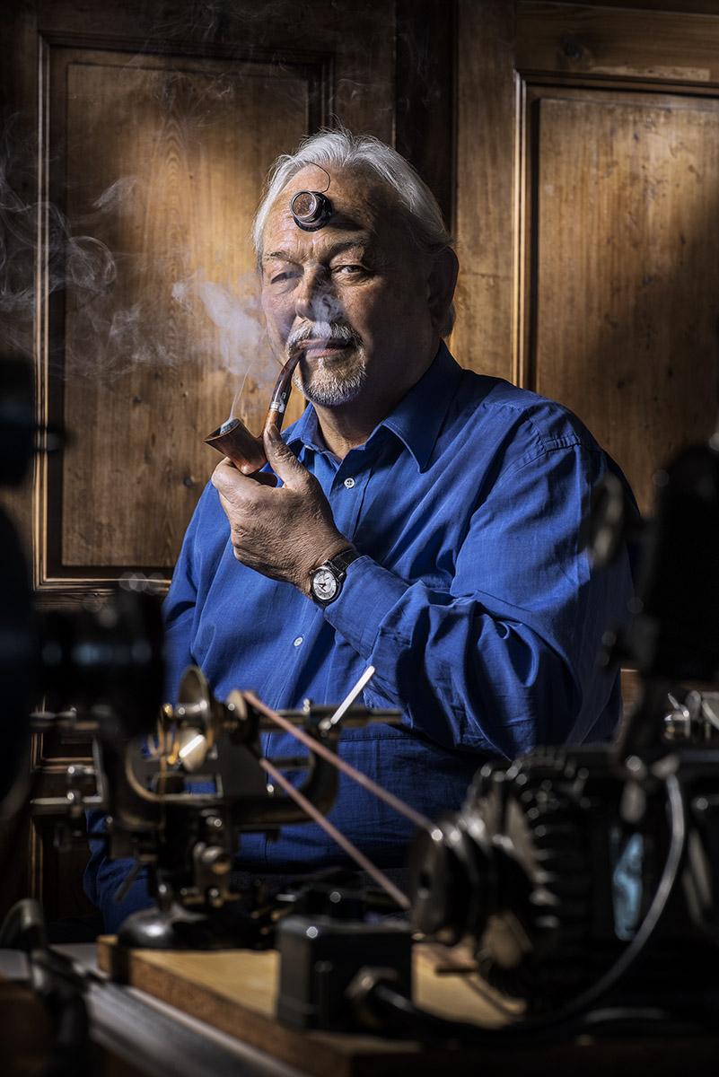 Portrait du génial horloger Philippe Dufour. ©Thierry Porchet