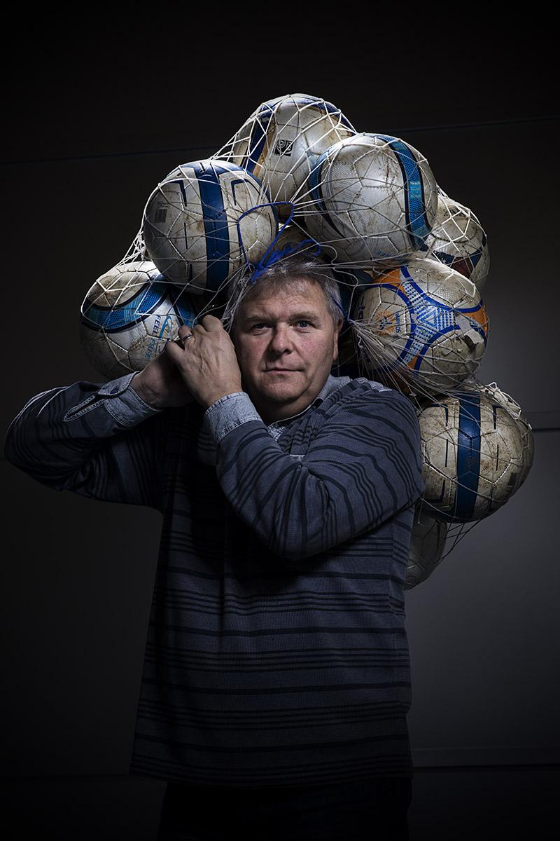 Portrait de Martial Eymann entraineur de foot pendant 34 ans, ©Thierry Porchet