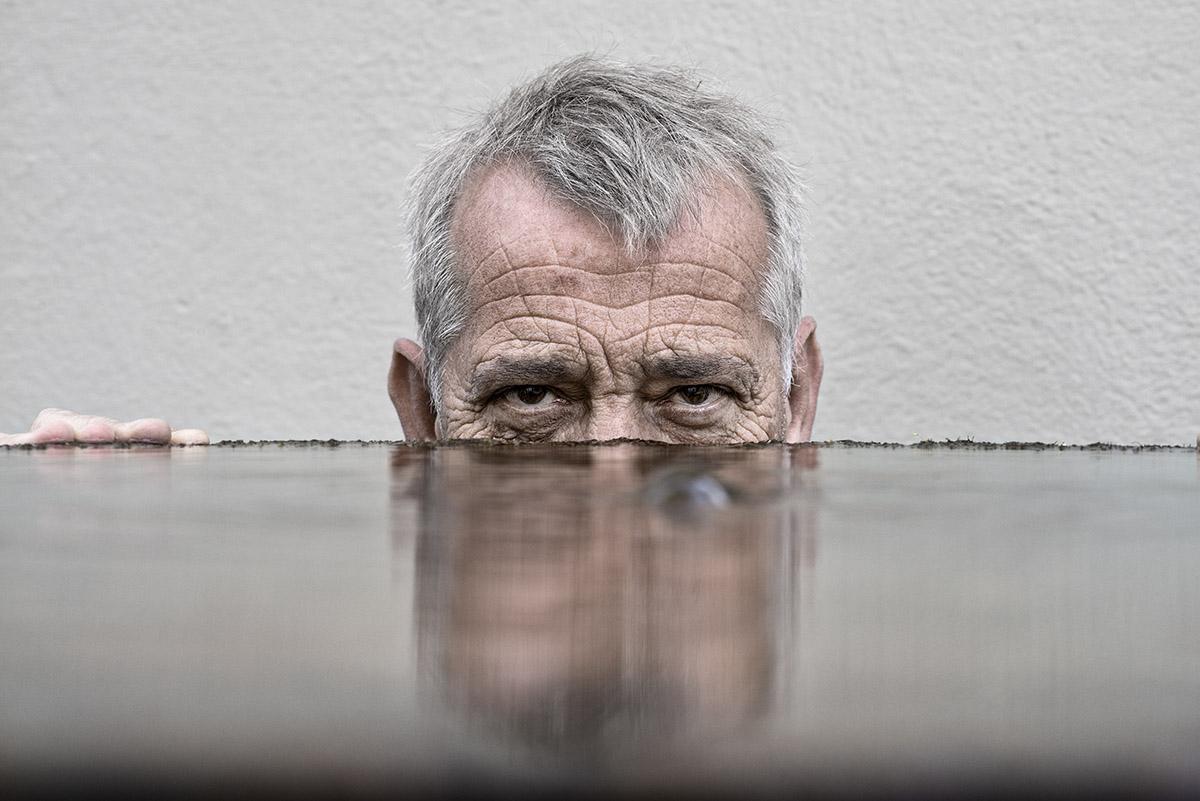Portrait de Gianni Schneider Homme de théâtre. ©Thierry Porchet
