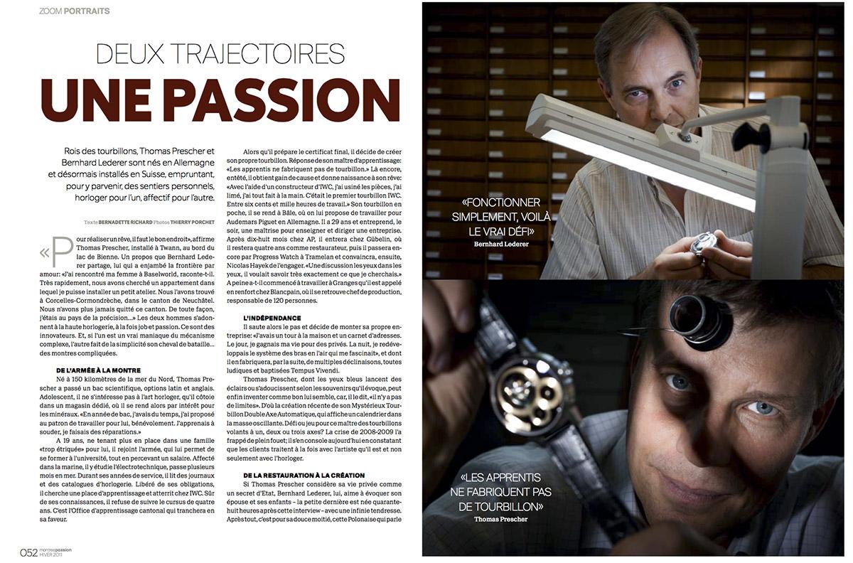 Portrait de deux horlogers pour Montres Passion / © Thierry Porchet