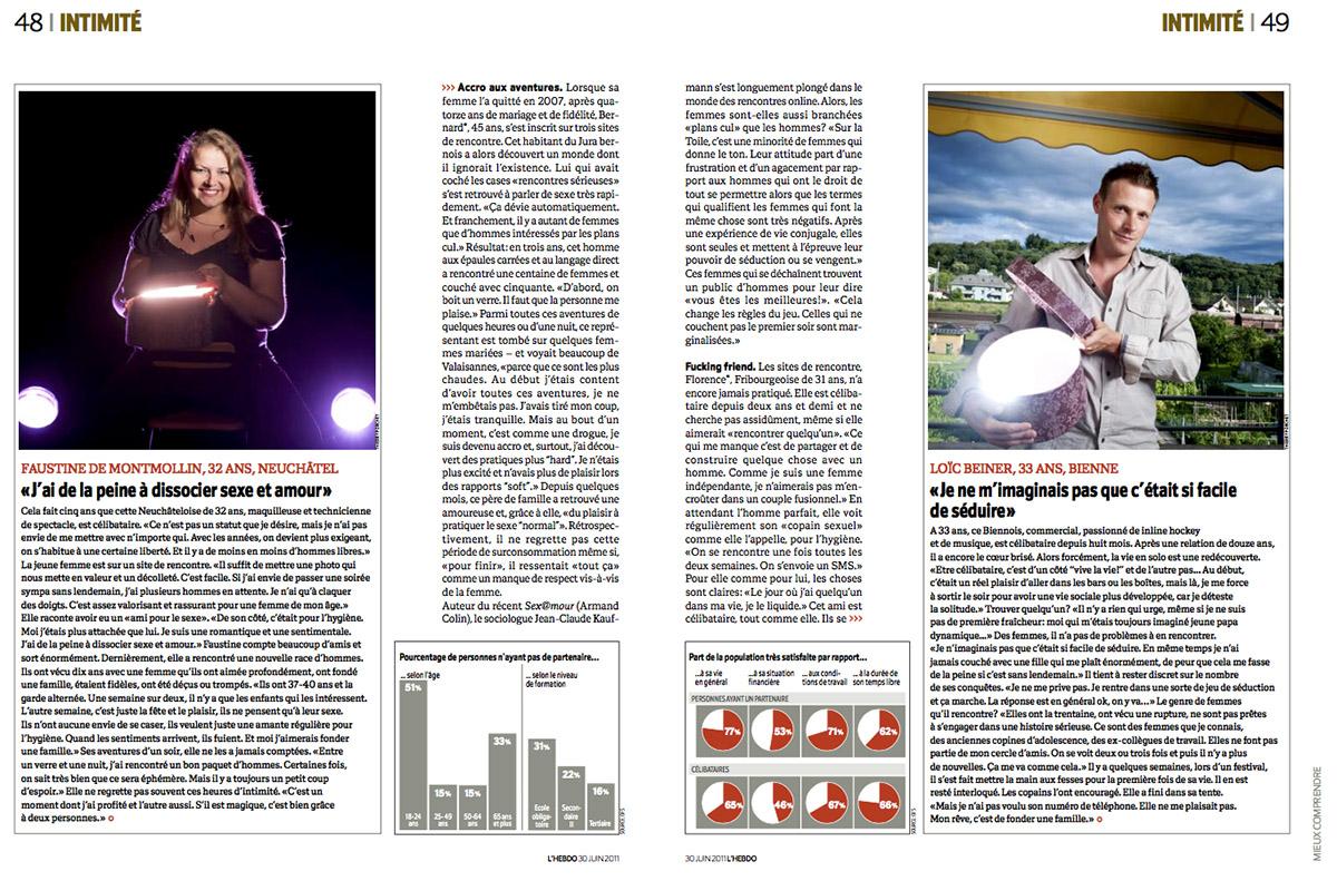 Portraits de célibataires pour L'Hebdo / ©Thierry Porchet