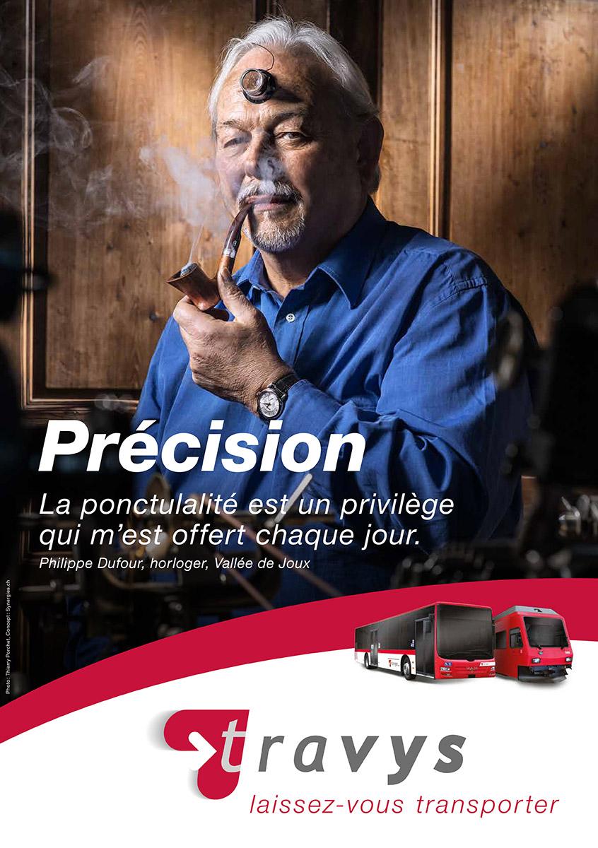 Campagne publicitaire pour TRAVYS / © Thierry Porchet