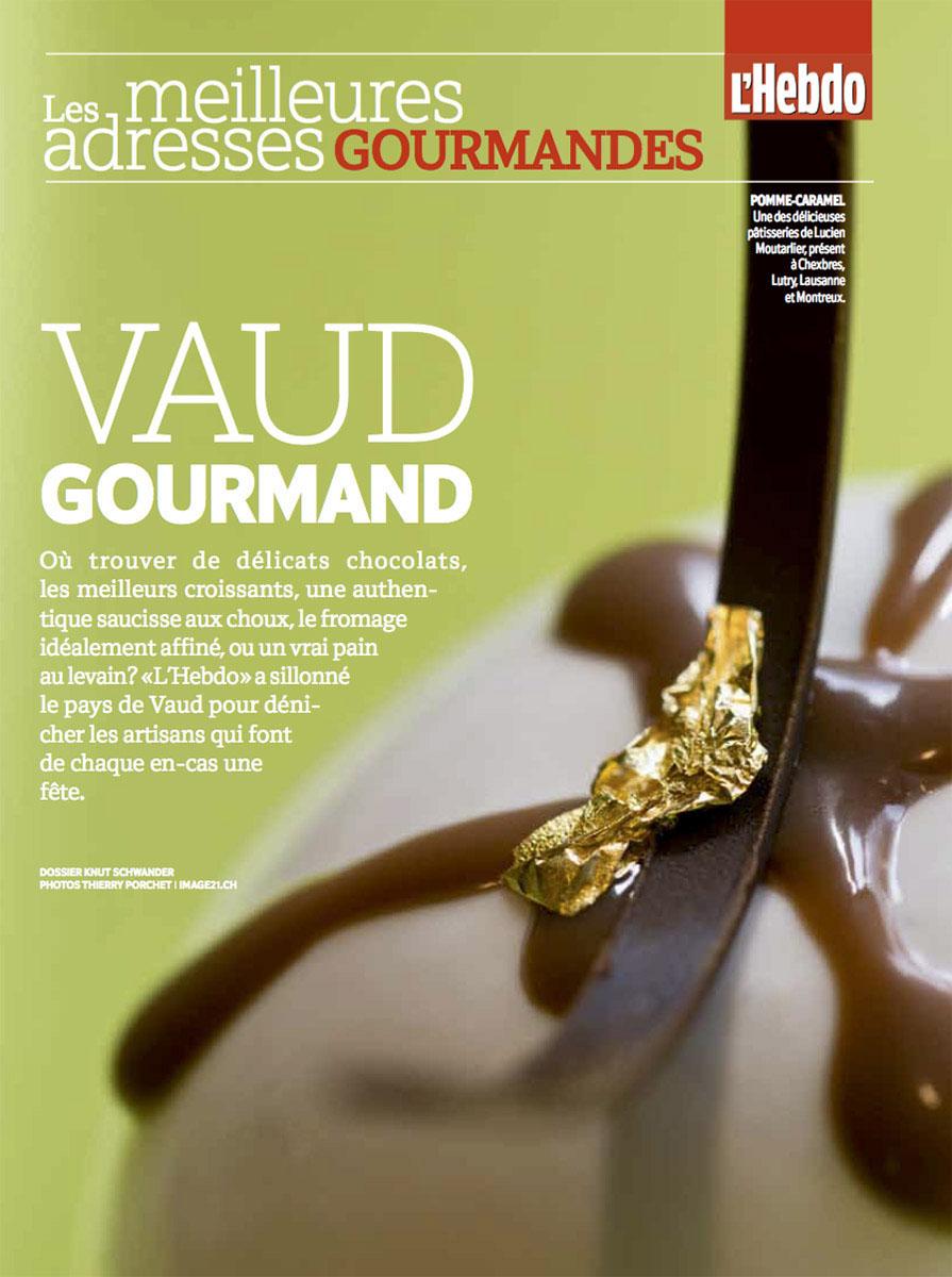 Pages gourmandes pour L'Hebdo / ©Thierry Porchet