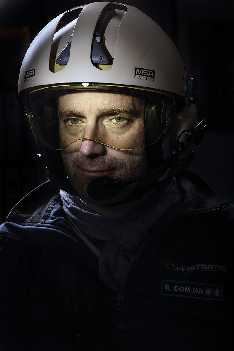 Portrait de l'explorateur et patron de SolarStratos Raphaël Domjan ©Thierry Porchet