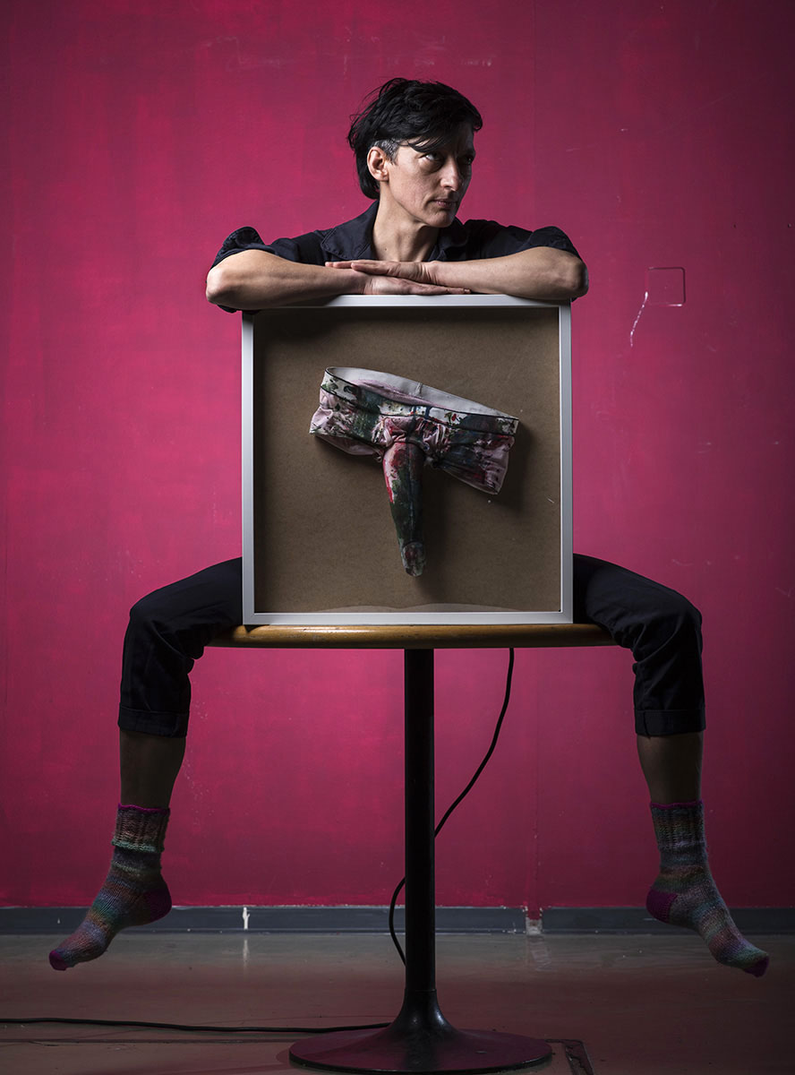 Angela Marzullo, artiste, féministe engagée ©Thierry Porchet