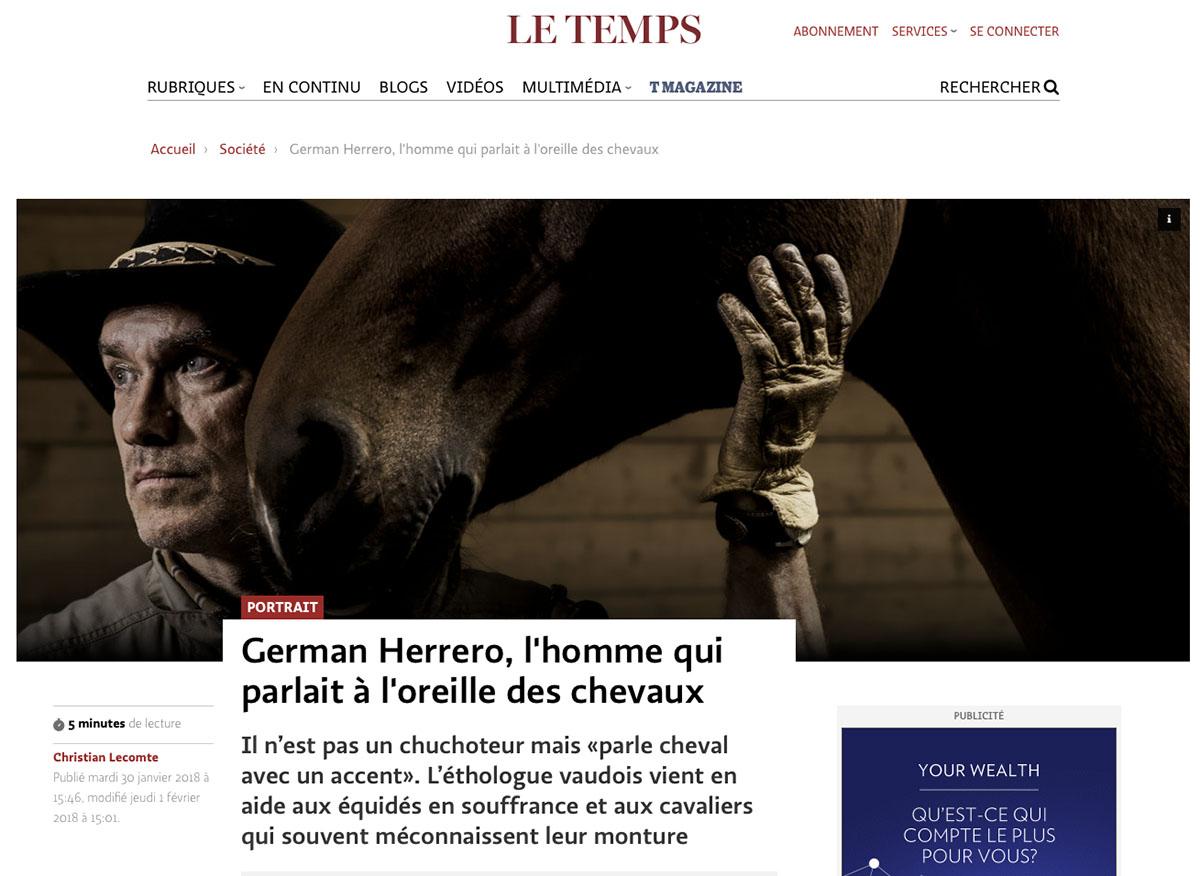German Herrero / Le Temps