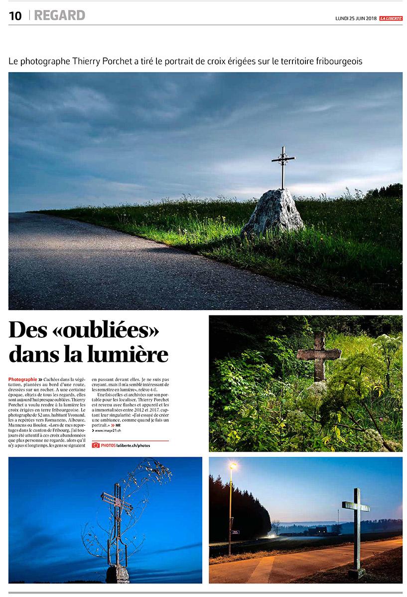 croix fribourgeoises pour le journal la liberté