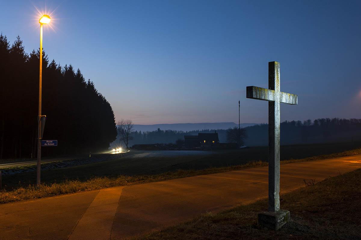 Croix canton de fribourg (fait partie d'une série d' images ayant pour thème les croix) ©Thierry Porchet