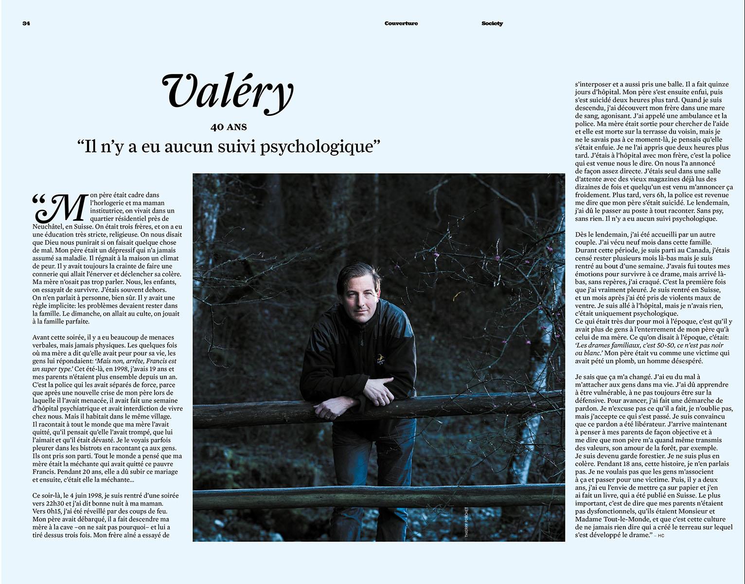 Portrait de Valery Gonin pour le magazine Society