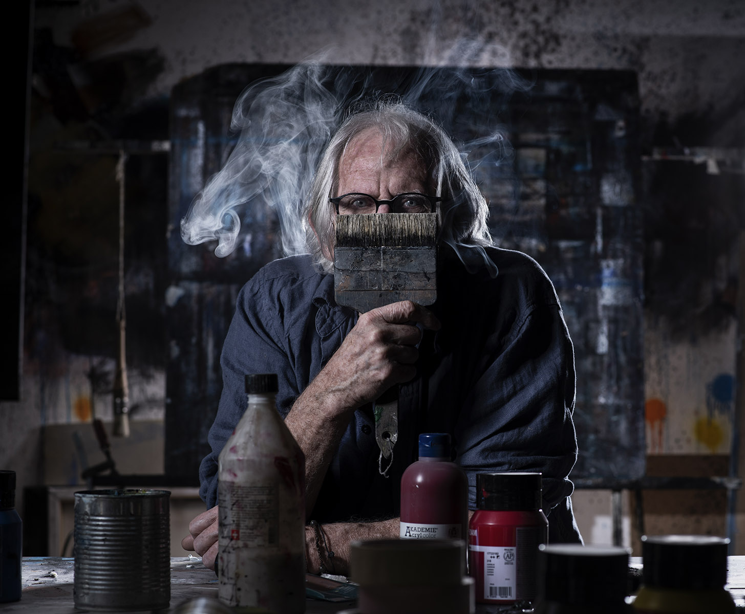 Claude Tièche, sculpteur, peintre ©Thierry Porchet