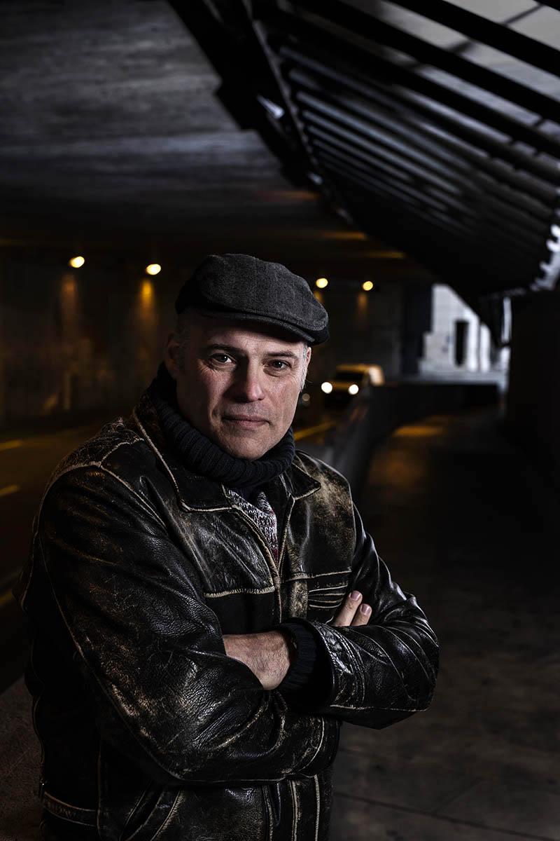 Joseph Incardona, écrivain, genève près de la gare ©Thierry Porchet