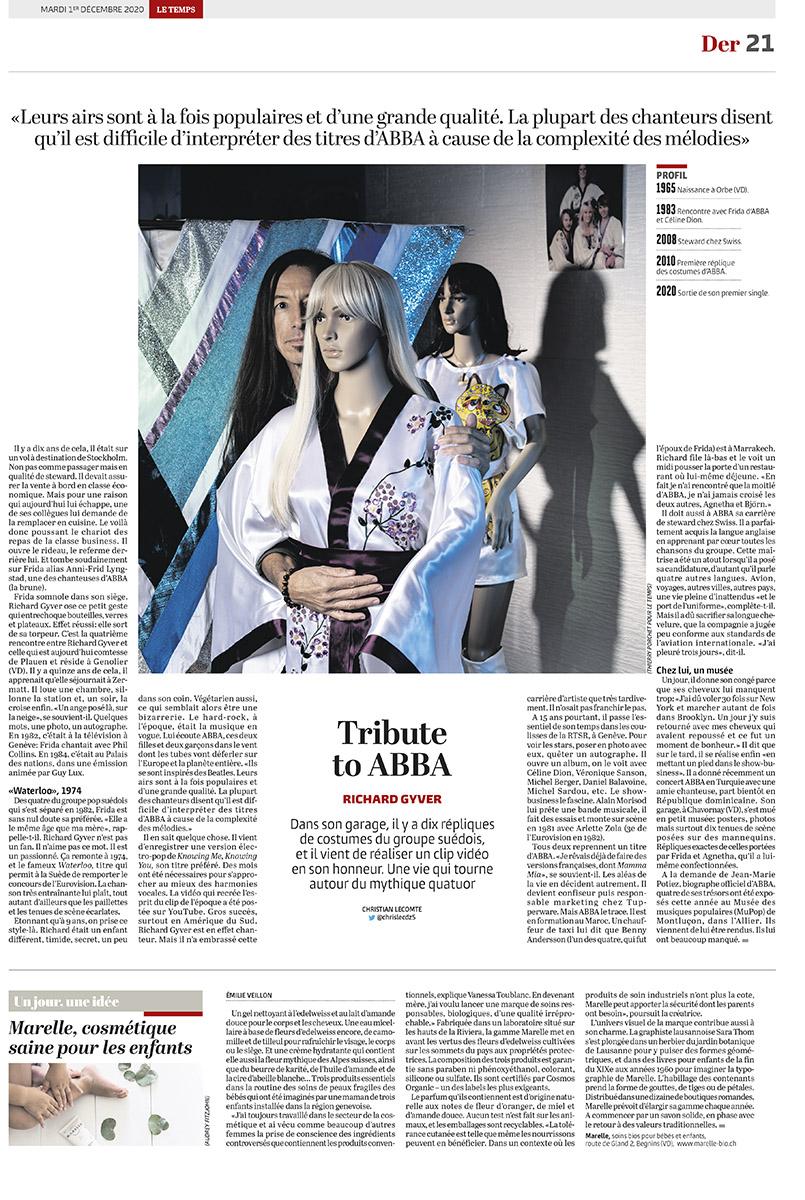 Portrait d'un fan de Abba / Le Temps